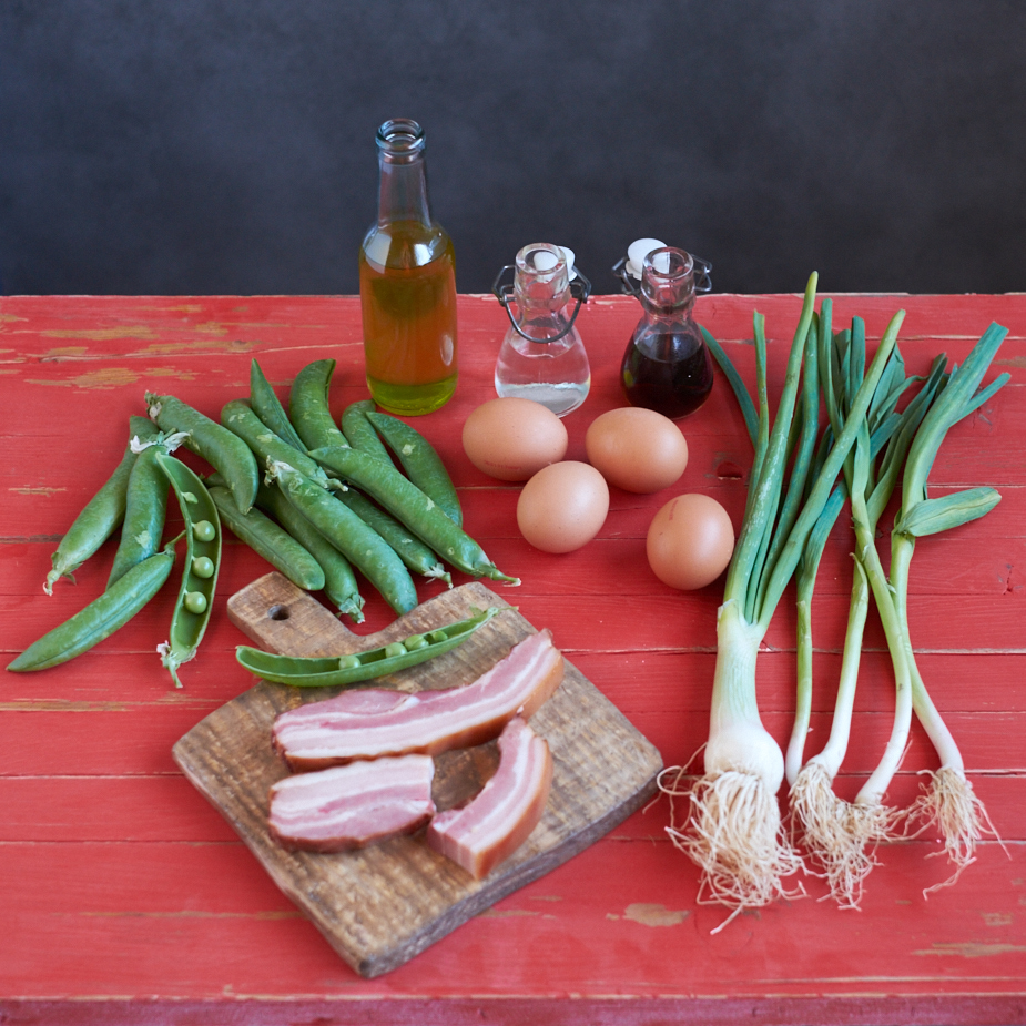 ingredientes_guisantes_huevo_bacon